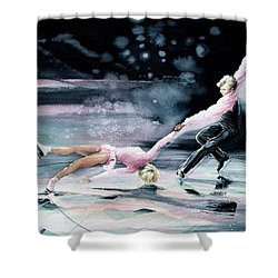 Shower Curtain featuring the painting Perfect Harmony by Hanne Lore Koehler