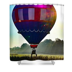 Shower Curtain featuring the photograph Perfect Landing by Kendall McKernon