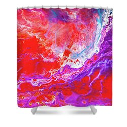 Perfect Love Storm - Colorful Abstract Painting Shower Curtain by Modern Art Prints