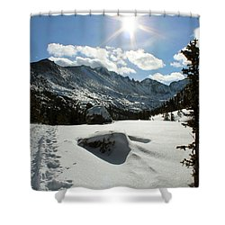 Perfect Snow Day Shower Curtain by Silke Brubaker