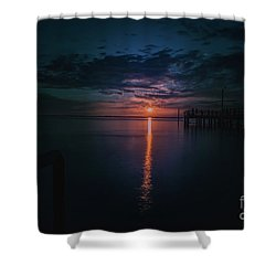 Perfect Sunset Shower Curtain by Jim  Hatch