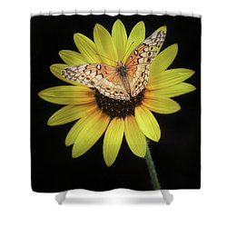 Perfect Timing Shower Curtain by Elaine Malott