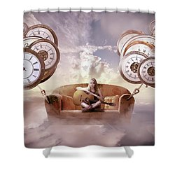 Shower Curtain featuring the digital art Perfect Timing  by Nathan Wright