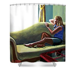 Perfect Waiting - Esperar Perfecto Shower Curtain