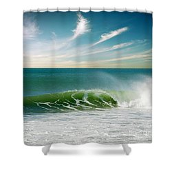 Perfect Wave Shower Curtain by Carlos Caetano