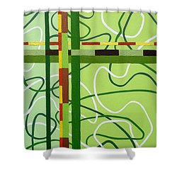 Peridot Party Shower Curtain by Tara Hutton