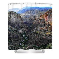 Perilous U.s. Route 88 Shower Curtain by Natalie Ortiz