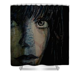 Shower Curtain featuring the painting Periode Bleue by Paul Lovering