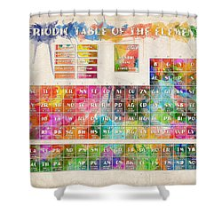 Periodic Table Of The Elements 10 Shower Curtain