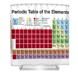 Periodic Table Of The Elements Shower Curtain by Carol and Mike Werner