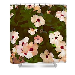 Periwinkle Shower Curtain by David Blank