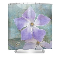 Periwinkle Stars Shower Curtain by Cindy Garber Iverson