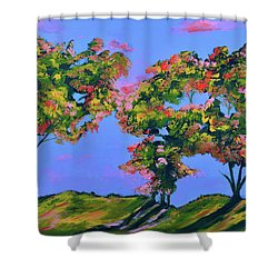 Periwinkle Twilight Shower Curtain by Donna Blackhall