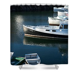 Perkins Cove Lobster Boats One Shower Curtain