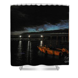 Perkins Pier Sunset Shower Curtain
