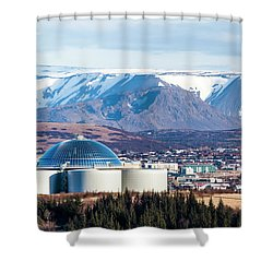 Perlan Shower Curtain by Wade Courtney