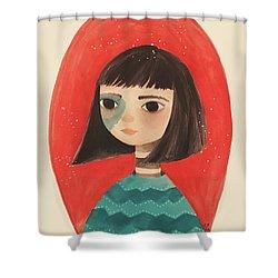 Permanent Contemplation Shower Curtain by Carolina Parada