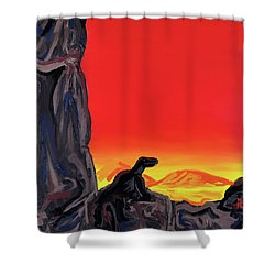 Permian Outpost Shower Curtain