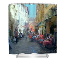 Perpignan Street Shower Curtain
