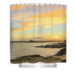 Perranuthnoe At Sunset  Shower Curtain