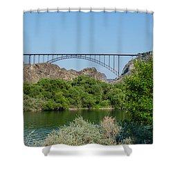 Perrine Bridge At Twin Falls Shower Curtain
