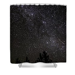 Perseid Meteor And Milky Way Shower Curtain
