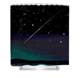 Perseid Meteor Shower  Shower Curtain by Jean Pacheco Ravinski