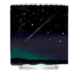 Perseid Meteor Shower  Shower Curtain