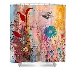 Persephone's Splendor Shower Curtain by Robin Maria Pedrero