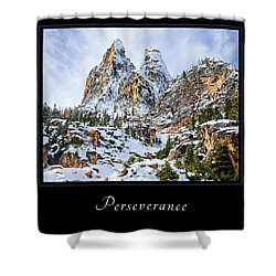 Shower Curtain featuring the photograph Perserverance 1 by Mary Jo Allen