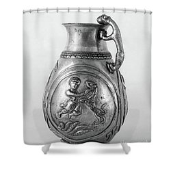 Shower Curtain featuring the photograph Persian Gladiator by Granger
