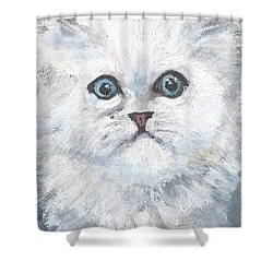 Persian Kitty Shower Curtain by Jessmyne Stephenson