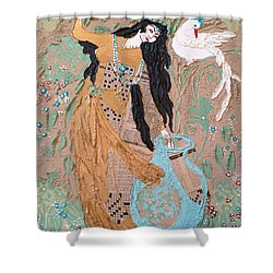 Persian Painting 3d Shower Curtain by Sima Amid Wewetzer