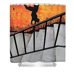 Perspective Shower Curtain by Merrimon Crawford