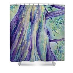 Perspective Tree Shower Curtain by Gretchen Bjornson