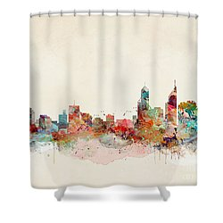 Shower Curtain featuring the painting Perth Australia by Bri B