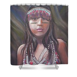 Peruvian Girl Shower Curtain by Julie Brugh Riffey