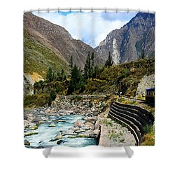 Peruvian Railway Shower Curtain