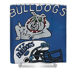 Peshtigo Bulldogs Shower Curtain by Jonathon Hansen