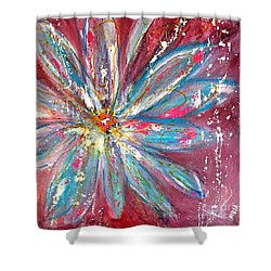 Petals Exploding Shower Curtain
