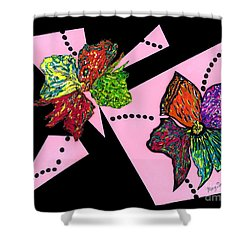 Petals In Motion Shower Curtain