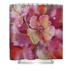 Petals, Petals, Petals Shower Curtain by Donna Acheson-Juillet