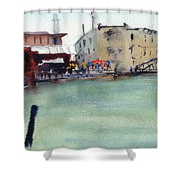 Petaluma Turning Basin Shower Curtain