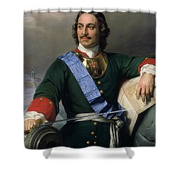 Peter I The Great Shower Curtain by Delaroche