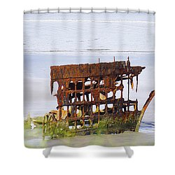 Peter Iredale Shower Curtain by Angi Parks