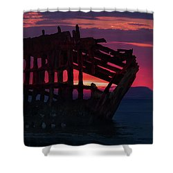 Peter Iredale Shipwreck Shower Curtain