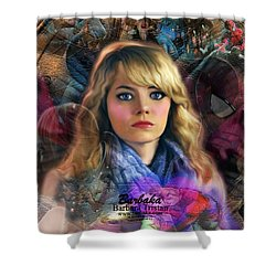 Peter Parker's Haunting Memories Of Gwen Stacy Shower Curtain by Barbara Tristan