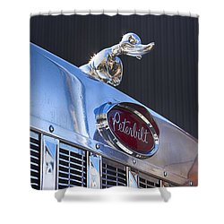 Peterbilt Angry Duck Shower Curtain by Theresa Tahara