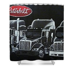 Peterbilt Trucks Shower Curtain