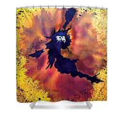 Shower Curtain featuring the painting Pete's Speed Of Light by Albert Puskaric